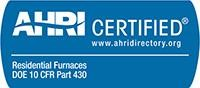 AHRI Certified - Residential Furnaces