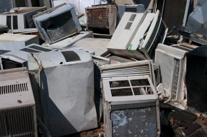 dumped-ac-units-scrapyard
