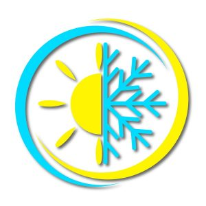 sun-and-snowflake-badge